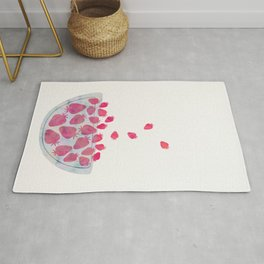 Magic Strawberries in the Bowl Rug