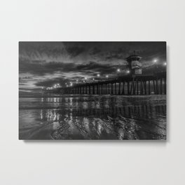 Rivlets in the Sand Metal Print