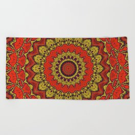 Mandala Fractal in Indian Summer 03 Beach Towel