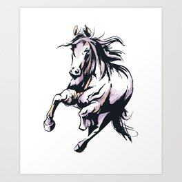 Wild Stallion Horse Art Print