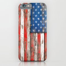 USA Vintage Wood Slim Case iPhone 6