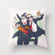 Three Flavours Cornetto Throw Pillow