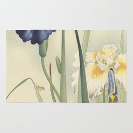 Ohara Koson, Iris Woodblock Print Rug