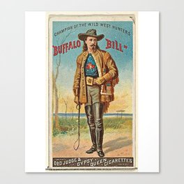 Vintage poster of the old American wild west Canvas Print