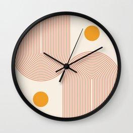 Abstraction_SUN_DOUBLE_LINE_POP_ART_Minimalism_001C Wall Clock
