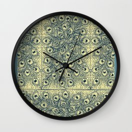 Rubino Snake Abstract Swirls Flowers Peacock Wall Clock