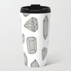 doodle crystals on white Travel Mug