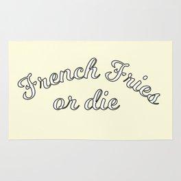 French fries or die Rug
