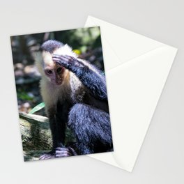 White headed capuchin monkey Stationery Cards