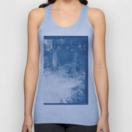 cyanotype woodland 5x4 negative Unisex Tank Top