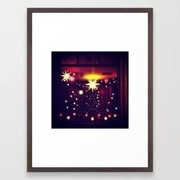 Herrnhuter Sterne Framed Art Print