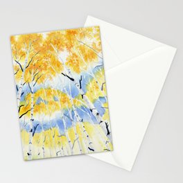 Under the Birch Forest Stationery Cards