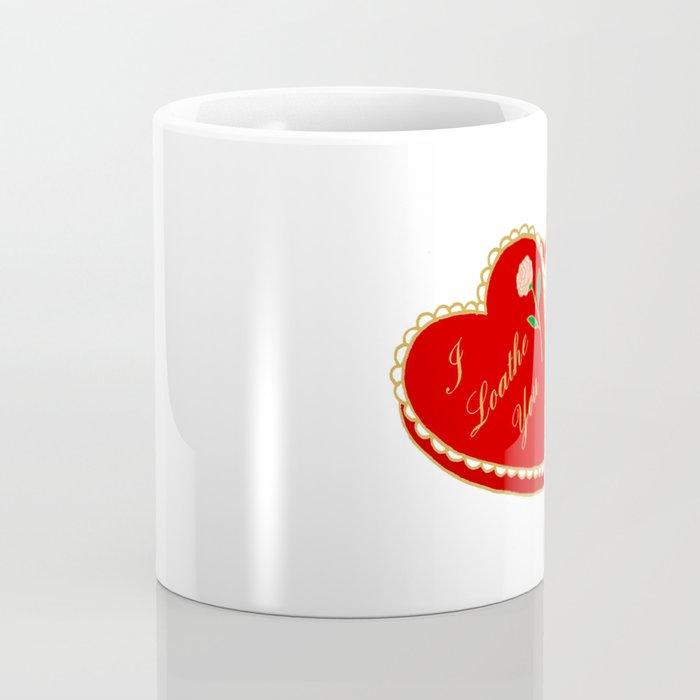 I Loathe You Vintage Valentine Heart Box Coffee Mug