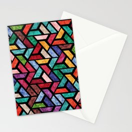 Seamless Colorful Geometric Pattern VII Stationery Cards