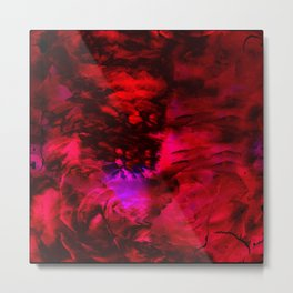 Ruby Red Abstract w/Shining Light Metal Print