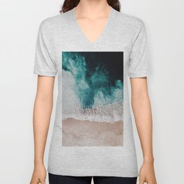 Ocean (Drone Photography) Unisex V-Neck