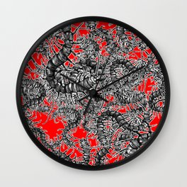 Centipede party Wall Clock