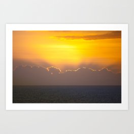 Makaha Sunset Art Print