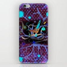 Delicious friendship birds and fox iPhone & iPod Skin
