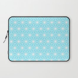 Ice Blue Geometric Flowers and Florals Isosceles Triangle Laptop Sleeve