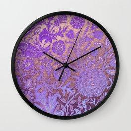 Wiiliam Morris revamped, art nouveau pattern Wall Clock