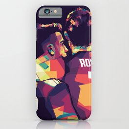 Ronaldo & Dybala on WPAP Pop Art Portrait iPhone Case