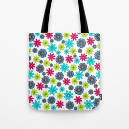 60s flowery pattern Tote Bag