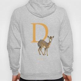 """D is for Dik-dik"": Under Appreciated Animals™ -series unusual creatures ABC alphabet kids orange Hoody"