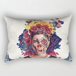 Floral man Rectangular Pillow