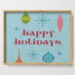 Mid Century Happy Holidays Serving Tray
