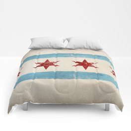 Chicago Flag Comforters