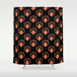 Natural Hair Afro Girl Pastel Shower Curtain