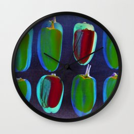 small collors peppers Wall Clock