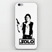 han solo iPhone & iPod Skins featuring Han Solo by Mister Munny