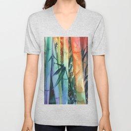 Kauai Rainbow Bamboo 2 Unisex V-Neck