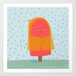 Ice lolly under the rain Art Print