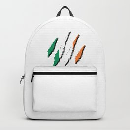 Ginger Irish Flag Country Patriotic St Patrick's Day Clover Ireland Claw Gift Backpack