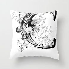 Monogram _C Throw Pillow