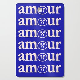 l'amour en bleu Cutting Board