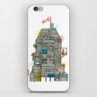 camp iPhone & iPod Skins featuring Holiday Camp by Marcelo Romero