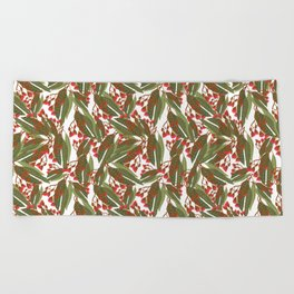 Flowering Gum - White Beach Towel