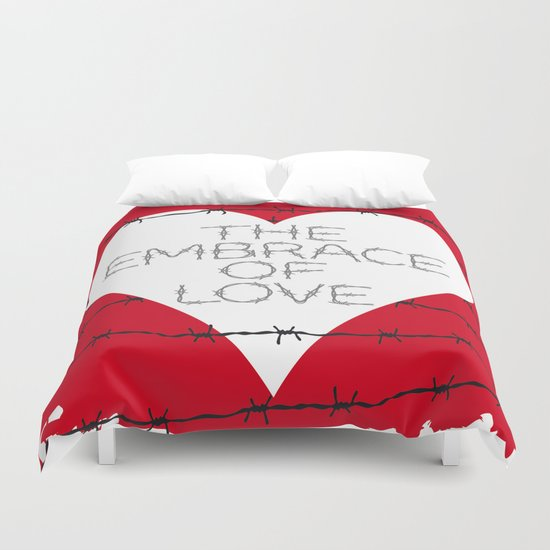 The embrace of love Duvet Cover