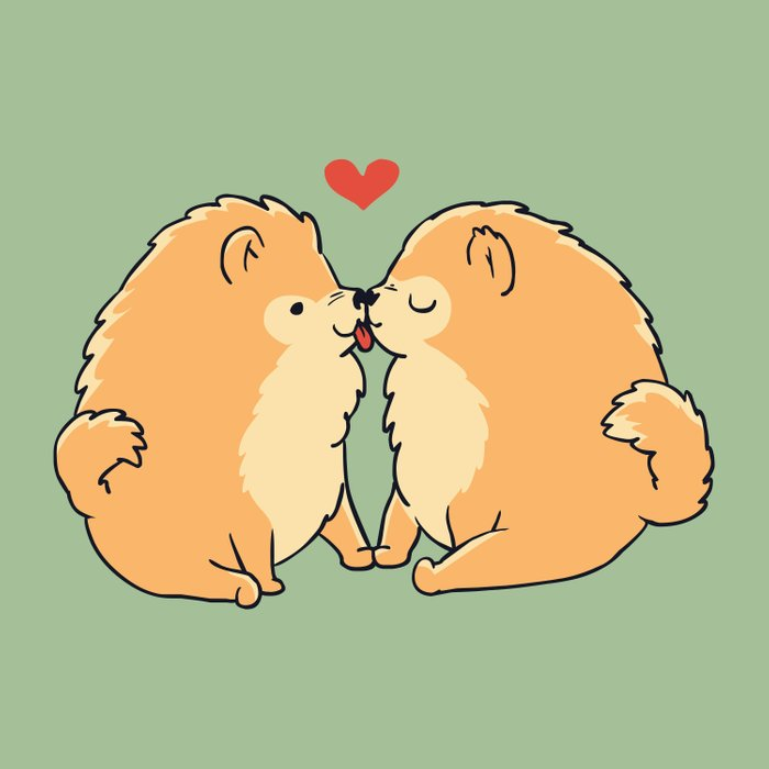 Pomeranian Kisses Comforters