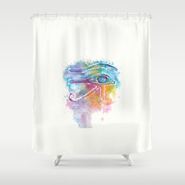 Eye of Horus Watercolor Illustration Shower Curtain