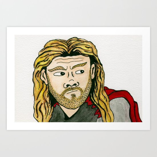 The Mighty Thor Art Print
