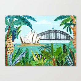 Sydney Harbour from the Botanical Gardens Canvas Print