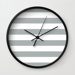 Stripe Horizontal Grey & White Wall Clock