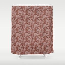 Abstract Geometrical Triangle Patterns 2 Dunn and Edwards Spice of Life Color of the Year Rich Muted Shower Curtain