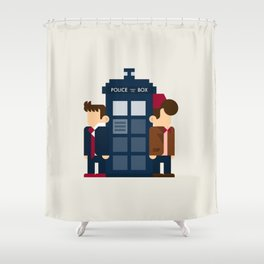 Doctor Who 10th & 11th Shower Curtain