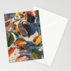 Leaf Grid Stationery Cards